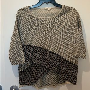 Anthropologie sweater - Moth beaded cross front